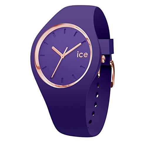 Ice-Watch - Ice Glam Colour Violet - Lila Damenuhr mit Silikonarmband - 015696 (Medium)