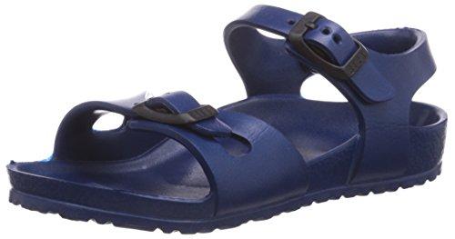 Unisex-Kinder Knöchelriemchen Sandalen, Blau (Navy), 24 EU (Birkenstock Für Mädchen)