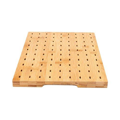 Natur Bambus Paddel Pick Ständer mit 90Löcher 1Zählen Box Paddel-Ständer bambus -