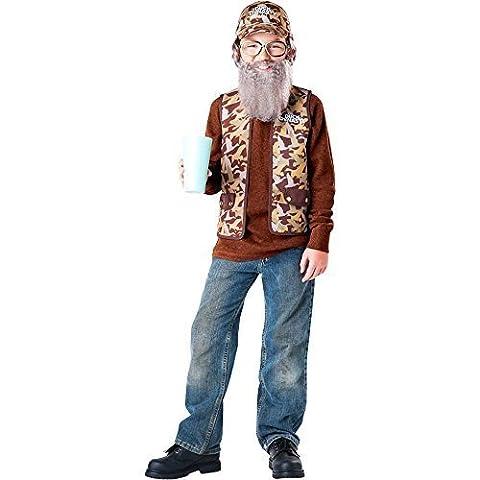 Dynastie De Duck Duck Costume - Duck Dynasty: Uncle Si Kids Costume -