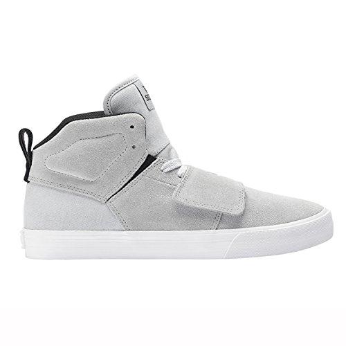 SUPRA Skateboard Shoes ROCK LT.GRAY-WHITE Size 9