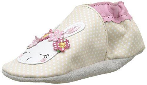 Robeez White Rabbit, Chaussures de Naissance Bébé Fille, Gris (Gris Point Blanc), 19/20 EU