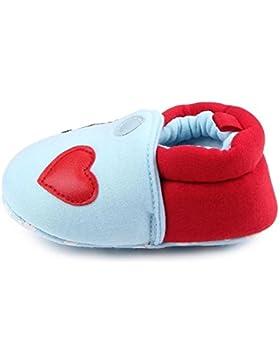 HCFKJ Adorables Primeros Caminantes Bebé Zapatos Redondos Pies Zapatos Zapatillas Suaves