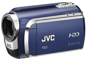 JVC GZ-MG630A Hybrid Camcorder With microSD slot & 60GB Hard Disc Drive With Konica Minolta Lens & 35x Optical Zoom - Blue