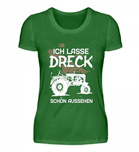 Shirtee Hochwertiges Damen Organic Shirt - Landwirt Ich Lasse Dreck Schön Aussehen Kelly Green