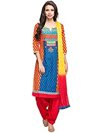Stop By Shoppers Stop Womens Round Neck Printed Salwar Suit