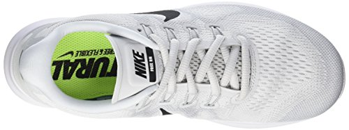Nike Free Rn 2017, Running Homme Blanc (Weiß/schwarz-reines Platin)