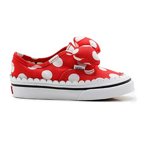 Vans Disney Authentic Minnie's Bow Niños Rojo Zapatillas-UK 9 Niños