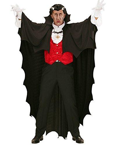 Cape vampire noire 150 cm Halloween - taille - Taille Unique - 229905