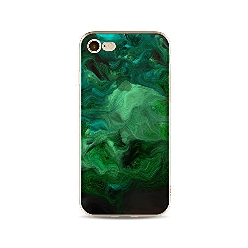 Coque iPhone 5 5s Housse étui-Case Transparent Liquid Crystal Gouache Art en TPU Silicone Clair,Protection Ultra Mince Premium,Coque Prime pour iPhone 5 5s-style 7 2