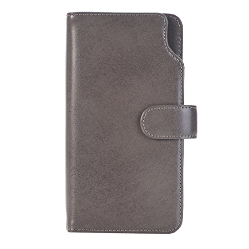 Hülle für iPhone 7 plus , Schutzhülle Für iPhone 7 Plus & 6 Plus & 6s Plus Abnehmbare Plain Weave Stitching Horizontale Flip PU Ledertasche mit Card Slots & Wallet & Photo Frame ,hülle für iPhone 7 pl Grey