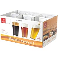 Bormioli Rocco Nonix Scatola 6 Bicchieri Beertime, 58 cl, Vetro, Trasparente