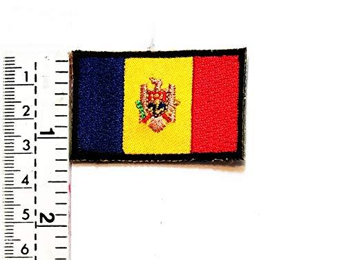 onal flag Patches Mini-Moldawien-Flaggen-Patch Nationalflagge Moldawien Bestickt Patch Weste Jacke Biker Motorrad Rider Biker Tattoo Jacke T-Shirt Aufnäher Aufbügler Aufbügler ()