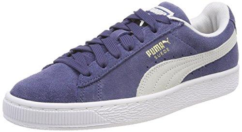 Puma Unisex-Erwachsene Suede Classic Sneaker, Blau (Blue Indigo White), 38.5 - Damen Sneakers Designer