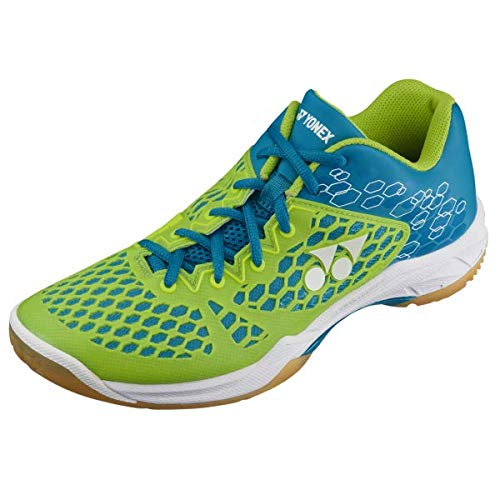 Yonex Unisex SHB 03EX Power Cushion Blue/Lime Badminton Shoes - UK-8