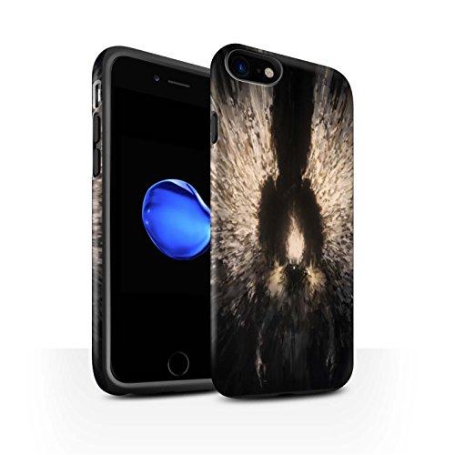 Offiziell Chris Cold Hülle / Matte Harten Stoßfest Case für Apple iPhone 7 / Rot Herzog Muster / Dunkle Kunst Dämon Kollektion Zeriel das Licht
