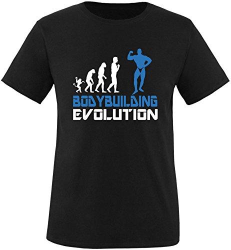 EZYshirt® Bodybuilding Evolution Herren Rundhals T-Shirt Schwarz/Weiss/Blau