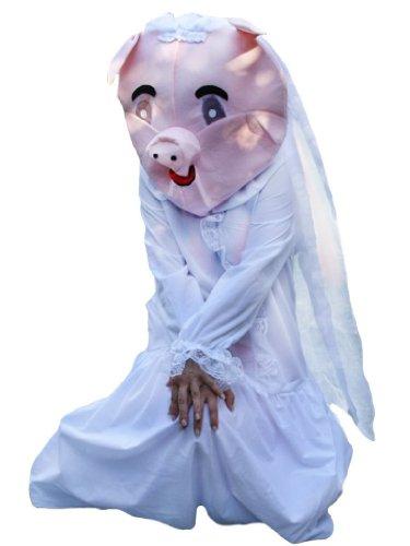 Schweine-Kostüm, Su28 Gr. M-XL, Schwein Faschingskostüm, für Karnevalskostüm -
