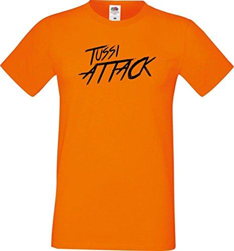 Shirtinstyle Männer T-Shirt Tussi Attack,orange, XXXL