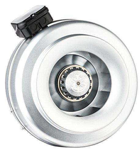 Bdtx Rohrventilator Rohrlüfter Radiallüfter Metall Abluft Ventilator diverse Größen 100mm