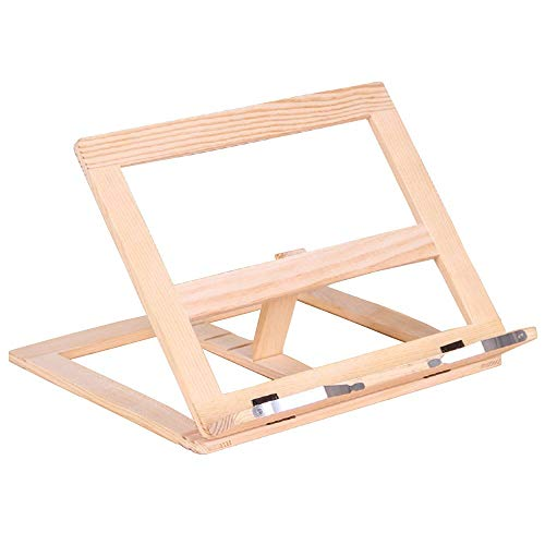 Fancyus Wooden Adjustable Book Stand Cookbook Holder