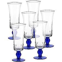 6 x Eiscremeglas, Eisbecher, Eisschale ~UMBRIA~ blau, 26 cm, Glas (GELATO VERO powered by CRISTALICA)