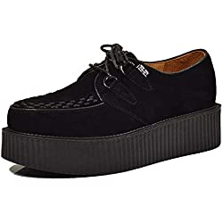 Cuero Zapatos para Hombre Cordones Plataforma Oxfords Gótico Punk Creepers 45