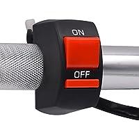 Botón Interruptor universal moto manillar Interruptor ON-OFF 12VDC para luz