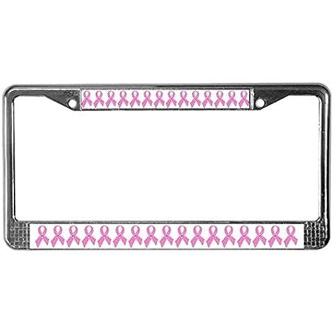CafePress nastro rosa Jewels License Plate Frame per software–Standard
