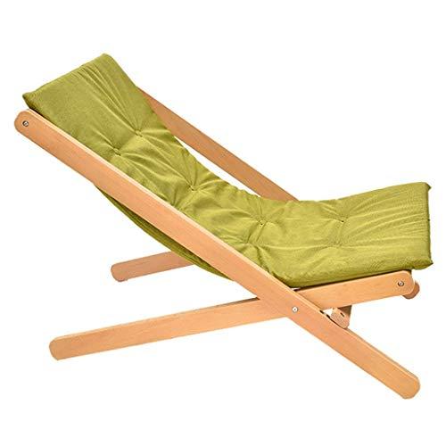 High-dining Patio-möbel (SEEKSUNG Recliner Chair,SjYsXm-recliners Holz Klappstuhl Gartensofa Lounger Chair mit dem High-Rebound-Schwamm Kissen Sonnenliege Stuhl Patio Stuhl Liegestuhl (Farbe: grau) -grün)