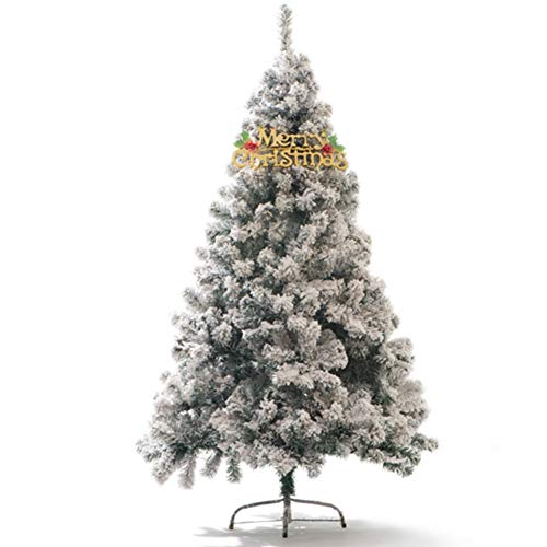 CYWYQ 7.8 fuß PVC Fichte Künstlicher Weihnachtsbaum,Beflockte Schnee Dekorierte Christbaum Folding Für Indoor Weihnachten Ist EIN echter blickfang Urlaub -210CM