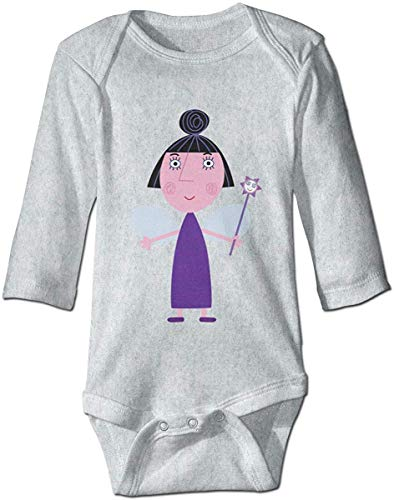 WlQshop Unisex-Baby Kurzarm Body, Cute Baby Boys Girls Romper Bodysuit Ben-and-Hollys Little Kingdom-Nanny-Plum Infant Kawaii Jumpsuit Outfit Long Sleeves