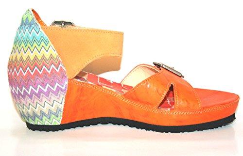Think!, Sandali donna arancione Orange 18.5 Orange (karotten/kombi 69)