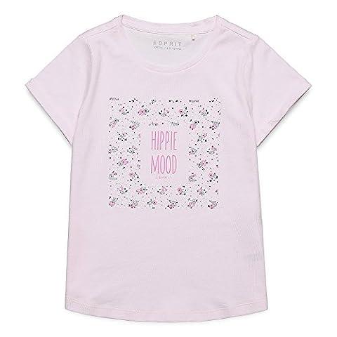 ESPRIT Mädchen Regular Fit T-Shirt RJ10273, Einfarbig, Gr. 92, Rosa (LIGHT PINK 311)