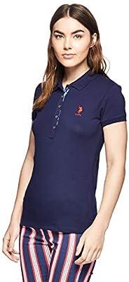 U.S. Polo Assn. Women's TP01IY09-011 Regular Fit Short Sleeve T-Shirt, Navy Blue, Me