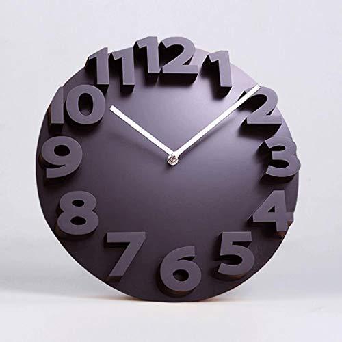 Gaoli orologio da parete creativa moderna del salone 3d tre dimensionale orologio personalizzato art -nero-