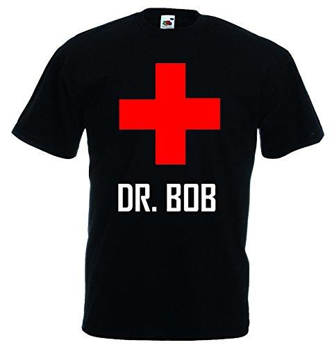 world-of-shirt Herren T-Shirt Dr.Bob Dschungelcamp Funshirt Schwarz