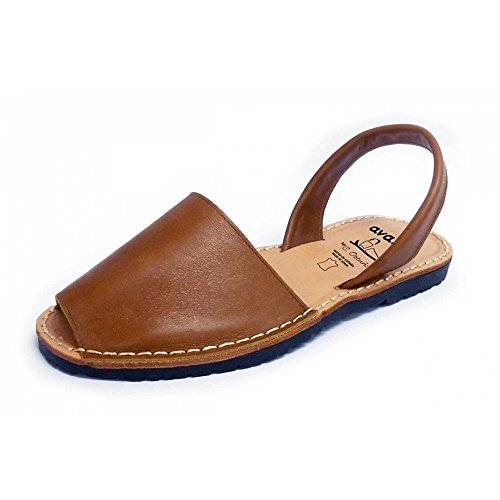 Sandales authentiques minorquines, color visón nobuck. Avarcas menorquínas (24 EU)