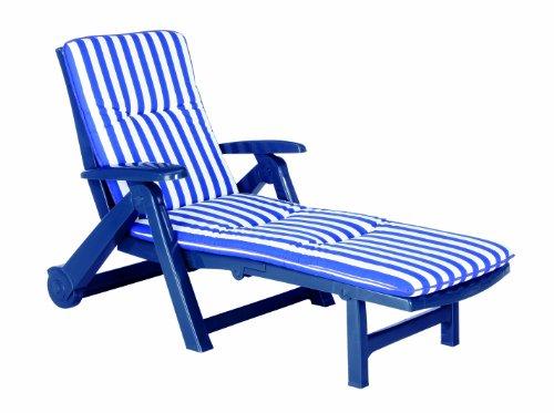 Preisvergleich Produktbild BEST 96406822 Rollliege Charleston inklusive Auflage, D.0268, blau
