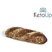 KetoUp: 3 frische Low Carb Röstzwiebelbaguettes | Bestens geeignet für die ketogene und Low Carb Ernährung | maximal 3% Kohlenhydrate - 3 x 320g | versandkostenfreie Lieferung innerhalb Deutschlands ab einem Bestellwert in Höhe von 20€