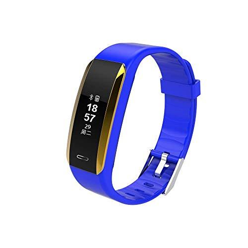 Niocase Smart Armband Fitness Tracker, Sport Armband Touch Smart Armband mit Pulsmesser Schlaf Monitor Schrittzähler Kalorienzähler für Android IOS iPhone Blau