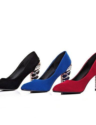 WSS 2016 chaussures polaire d'été des femmes / pointue de bureau orteil talons&carrière / occasionnels autres talons chunky noir / bleu / blue-us8 / eu39 / uk6 / cn39