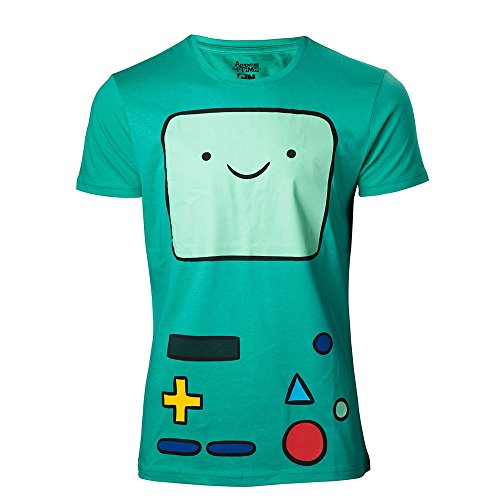 Adventure Time Herren The Beemo T-Shirt, Grün Green, X-Large -