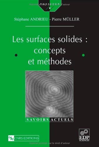 Les surfaces solides : concepts et méthodes par Pierre Müller