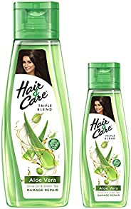 Hair & Care with Aloe Vera, Olive Oil & Green Tea Damage Repair Non-Sticky Hair Oil, 300 ml with Fre