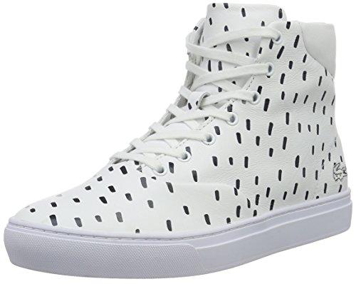 Lacoste L!ve, Rene Alliot Hi, Sneakers da Uomo, Bianco (wht/nvy), 40