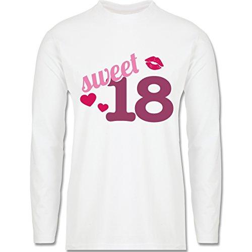 Geburtstag - Sweet 18 - Longsleeve / langärmeliges T-Shirt für Herren Weiß
