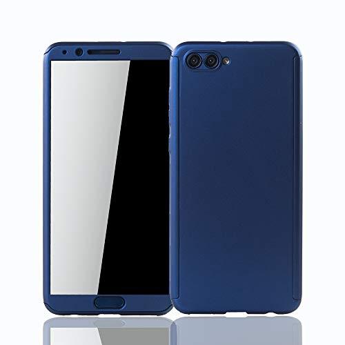 König Design Schutz-Case geeignet für Huawei Honor View 10 Hülle mit Panzerglas   Sturzsichere Full Cover Handyhülle in Blau