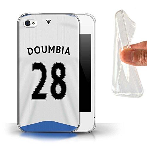 Offiziell Newcastle United FC Hülle / Gel TPU Case für Apple iPhone 4/4S / Pack 29pcs Muster / NUFC Trikot Home 15/16 Kollektion Doumbia