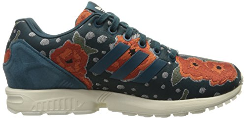 Adidas Womens ZX Flux Leather Trainers Utility Green F16/Utility Green F16/Chalk 2